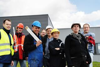 Group of Construction Workers at a Job Site