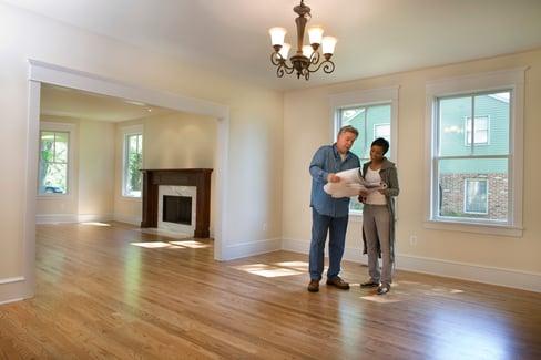 Homeowner Speaking with Radon Specialist
