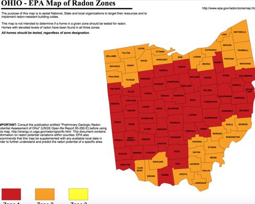 Ohio Radon Testing Ohio Radon Mitigation Company Radon Removal - Is a radon map us
