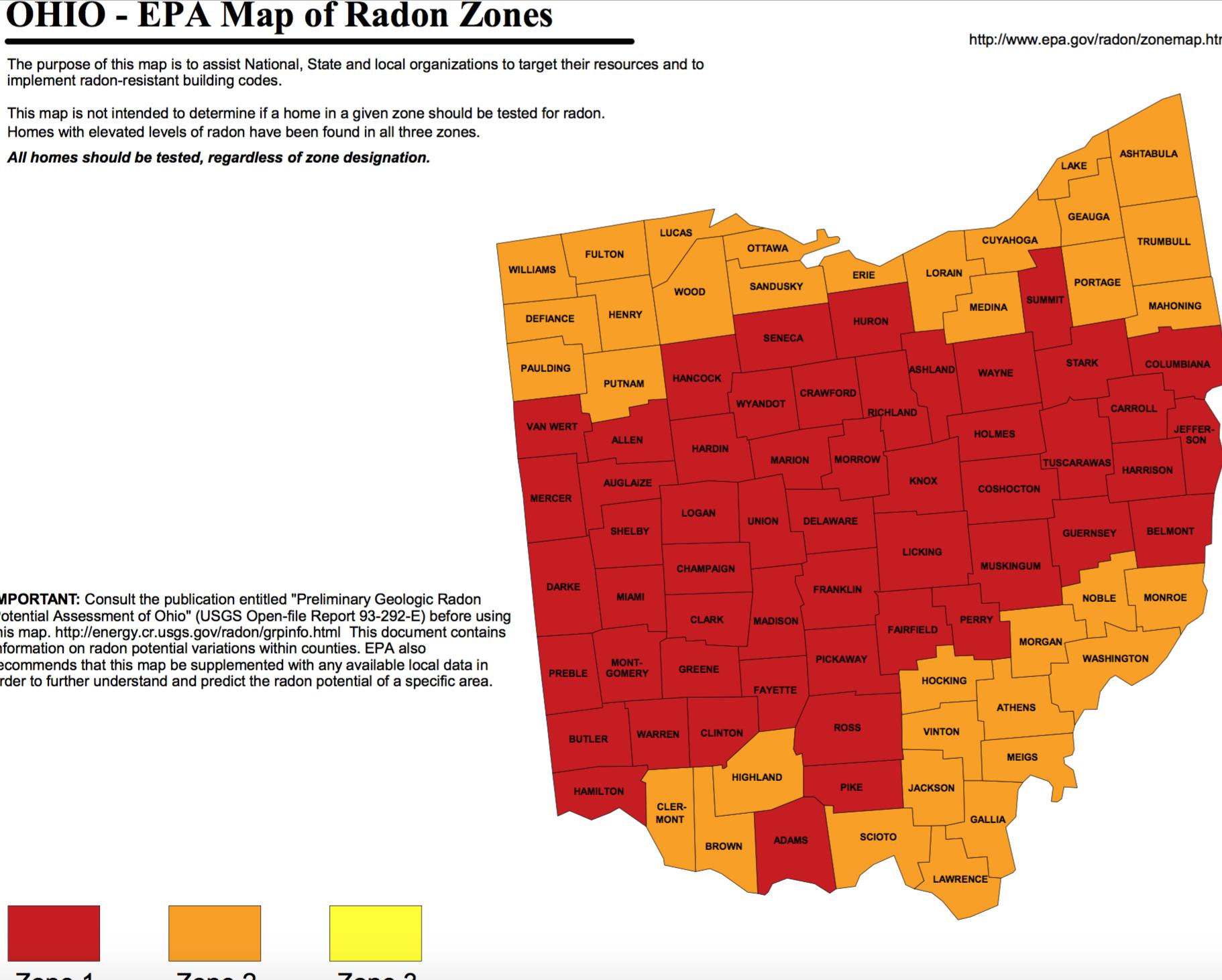 Radon in Ohio