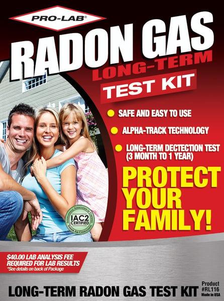 pro-lab long-term radon gas kit