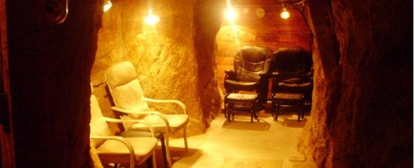 People travel from all over to sit in radon mines